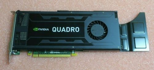 HP Nvidia Quadro K4000 PCI-E 3GB GDDR5 Graphic Card DVI-I + 2x DP1.2 713381-001